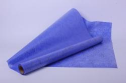"""Упаковочный Материал Ламинированный фетр """"Веточки"""" , 60 см х 5 м Голубой"""