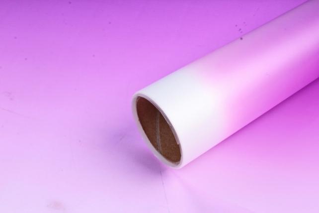 """Упаковочный материал Матовая пленка """"Градиент"""" 60x5m, Фиолетовый"""