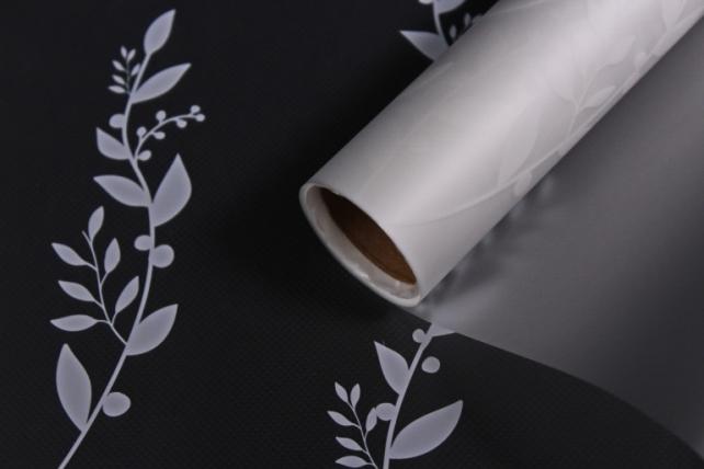 """Упаковочный материал Матовая пленка """"Веточка"""", 60 x 5m, Белый"""