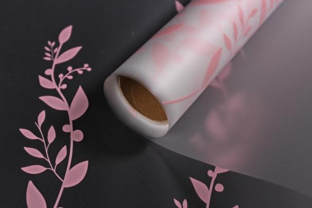 """Упаковочный материал Матовая пленка """"Веточка"""", 60 x 5m, Розовый"""