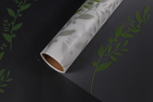 """Упаковочный материал Матовая пленка """"Веточка"""", 60 x 5m, Зеленый"""