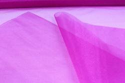 упаковочный материал органза - снег, 70см х 9м (фуксия 1031)