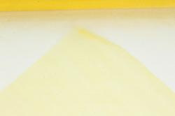 упаковочный материал органза - снег, 70см х 9м (желтый 1010)