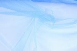 упаковочный материал органза - снег, 70см х 9м (голубой 1039)