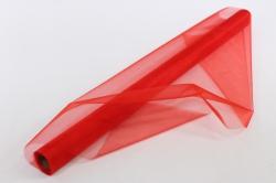упаковочный материал органза - снег, 70см х 9м (красный 1004)