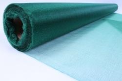 Упаковочный материал Органза - снег, 70см х 9м (темно-зеленый 1017)