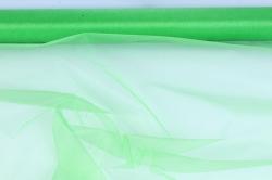 упаковочный материал органза - снег, 70см х 9м (зеленый 1014)