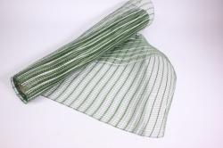 """Упаковочный материал сетка """"Акцент"""" 54 см x 5,5 м (белый/зеленый LM-21)"""