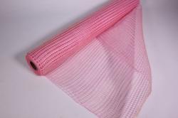 """Упаковочный материал сетка """"Акцент"""" 54 см x 5,5 м (светло-розовый LM-05)"""