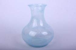 Ваза  92-008-1 алебастр голубая Н=19,5 см