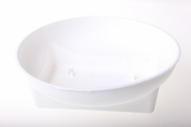 Ваза Чаша Раунд (15 см) белого цвета