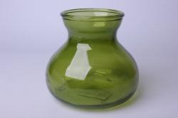 Ваза Дана 92-024 прозрачная крш. зеленая 375С Н=15 см