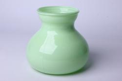 Ваза Дана 92-024 прозрачная крш. зеленая Н=15 см