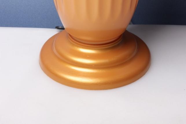 ваза декоративная золотая  h=44  d=22