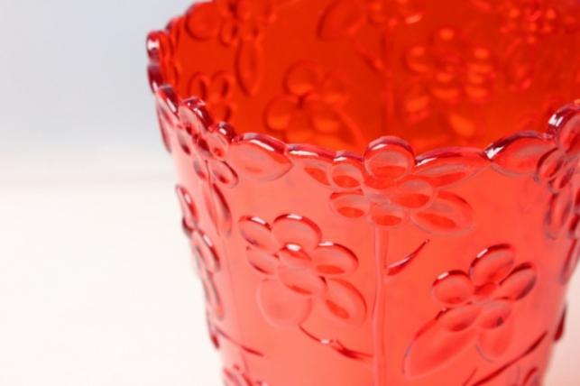 ваза для цветов пластиковая (красный) h=20/d=12,5см