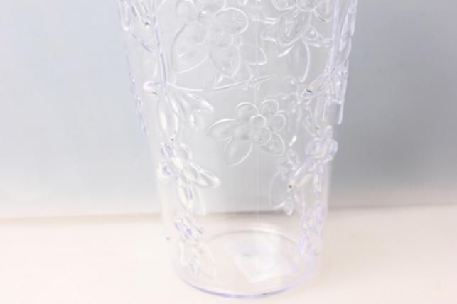 ваза для цветов пластиковая (прозрачный) h=20/d=12,5см