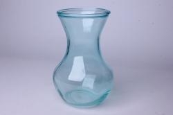 Ваза Ганна 92-025 прозрачная крш. голубая Н=18 см