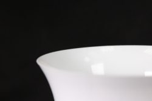 ваза гладкая белая d15/h33  43507968