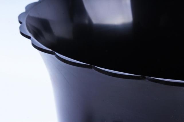 Ваза гладкая средняя черная ProFloristika