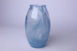 Ваза Лайт 92-002-1 алебастр синий Н=19,5см