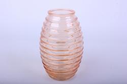 Ваза Лайт 92-002 прозрачная крш. оранжевая Н=19,5см