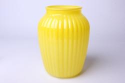 Ваза Луана 92-021 прозрачная крш. жёлтая  Н=19,5см