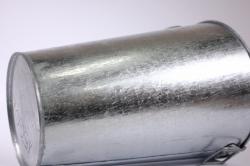 ваза мелаллическая оцинкованная 7л (h=30см) с ручками
