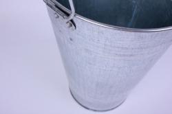 Ваза металлическая оцинкованная 7л (h=30см) с ручками