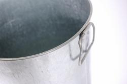 ваза мелаллическая оцинкованная 9л (h=40см) с ручками