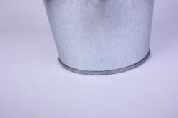 Ваза металлическая оцинкованная 9л (h=40см) с ручками