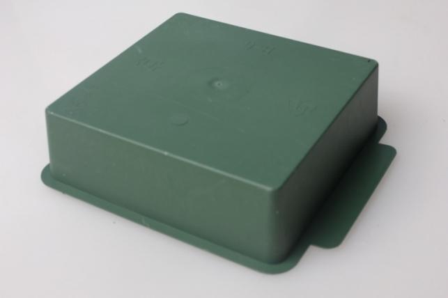 ваза поддон квадрат 22х22х7см (зеленый) в