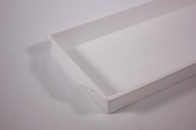 ваза поддон под два кирпича - 48х11х1.8 (белый)