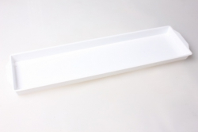 Ваза поддон под два кирпича 48х11х1,8 (белый)
