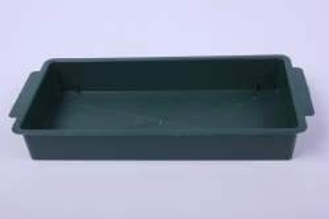 Ваза  поддон под кирпич 23*11*1,8 (зеленый) В7