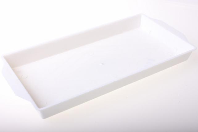 Ваза поддон под кирпич (23 на 11 на 1,8 см) (белый)