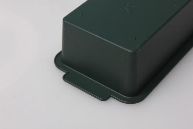 ваза поддон узкий  24х7х3 (зеленый) в5