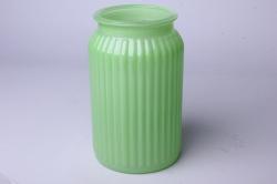 Ваза Реана 92-022 прозрачная крш. зеленая Н=20см