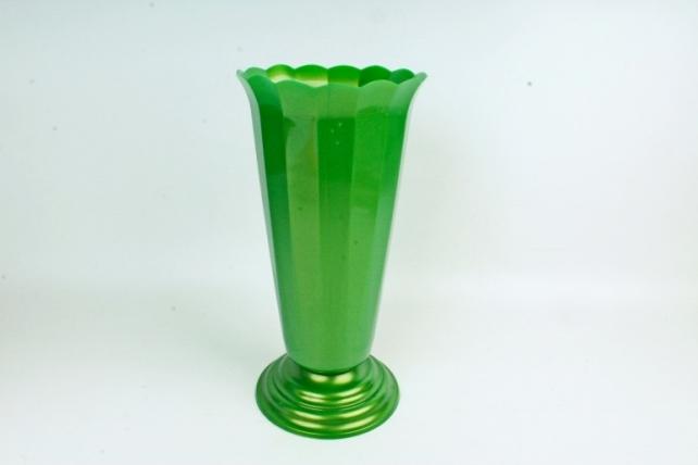 Ваза рифленая малая (зеленая)