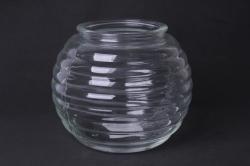 Ваза Зара 92-006-1 прозрачная  Н=13 см