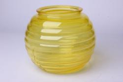 Ваза Зара 92-006 прозрачная крш. жёлтая 3795С Н=13 см