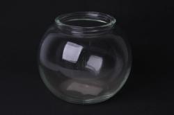 Ваза Зара 92-006 прозрачная Н=13 см