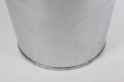 вазон металлический 7л без ручек (h=30см)