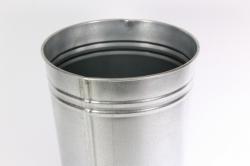 вазон металлический 9л без ручек (h=40см)
