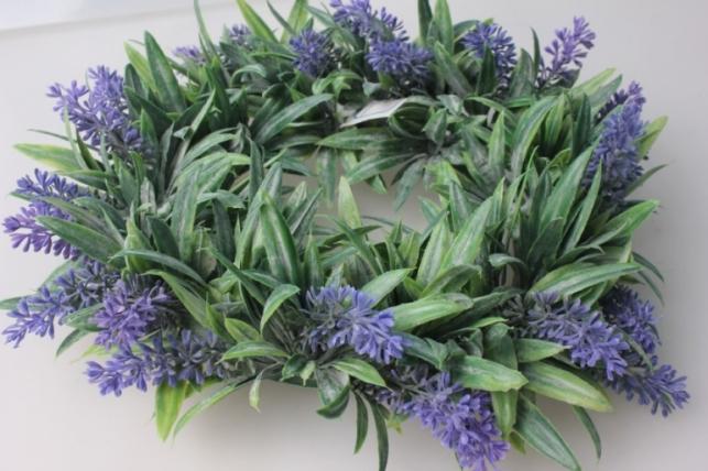венок лаванда d=25см d-270f - искусственные растения декорирования