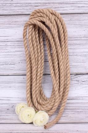Веревка джутовая крученая 10мм*6м  00051855