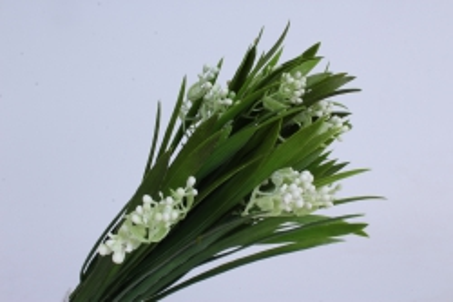 ветка декоративная белая h=33cm