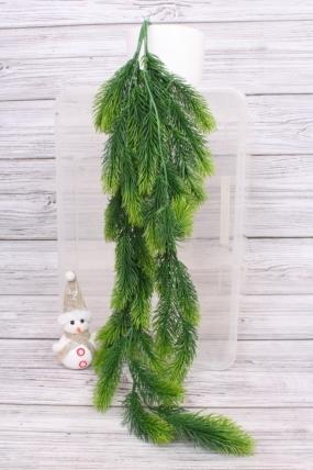 Ветка Ели ампельной зелёная 80см