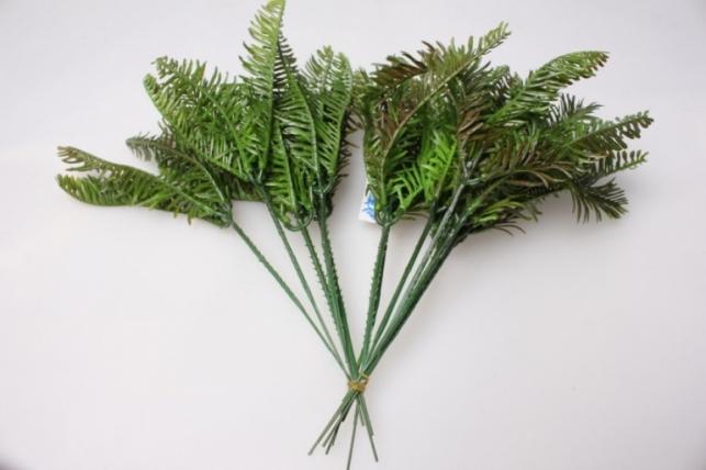 ветка  еловая пушистая 15см (12 шт в уп) 3214 - искусственные растения