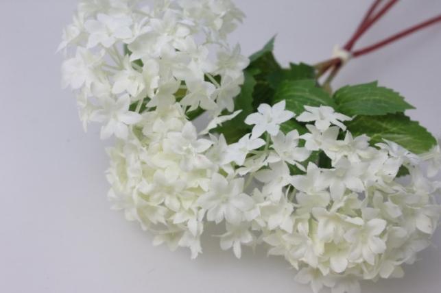 Ветка  Гортензия белая KW126 - искусственные растения