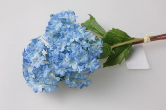 Ветка Гортензия голубая 1шт. KWY124 - искусственные растения